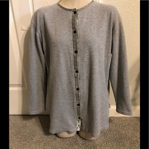 NEW YORK & CO grey button down, woman's M top